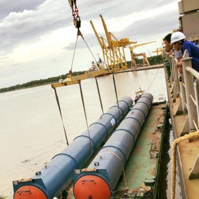 Vận chuyển dây chuyền máy móc sản xuất gạch cho nhà máy tuynel Bình Định
